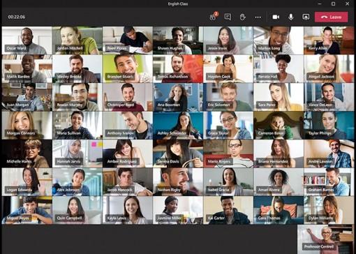 Ứng dụng gọi video trực tuyến Microsoft Teams sắp hỗ trợ màn hình 49 người