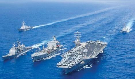Bộ đôi tàu sân bay Mỹ tập trận ở Biển Đông