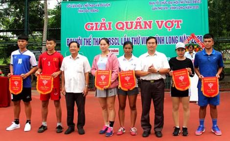 Khai mạc Giải Quần vợt Ðại hội Thể thao ÐBSCL lần thứ VIII - Vĩnh Long năm 2020