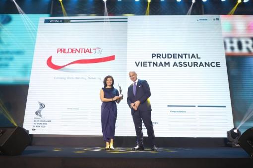 Prudential Việt Nam lần thứ 3 được vinh danh là nơi làm việc tốt nhất châu Á tại HR ASIA AWARD 2020