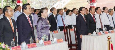 Chủ tịch Quốc hội Nguyễn Thị Kim Ngân dự Lễ kỷ niệm 110 năm ngày sinh đồng chí Nguyễn Hữu Thọ
