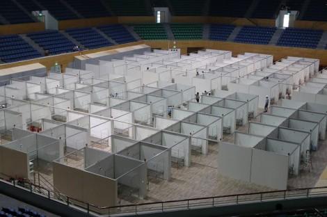 Bệnh viện dã chiến 700 giường tại Đà Nẵng cơ bản đã hoàn thành