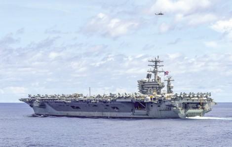Mỹ điều tàu sân bay tới  vùng Vịnh giữa căng thẳng với Iran