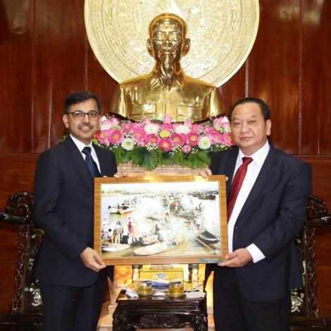 Lãnh đạo thành phố tiếp Đại sứ Ấn Độ tại Việt Nam
