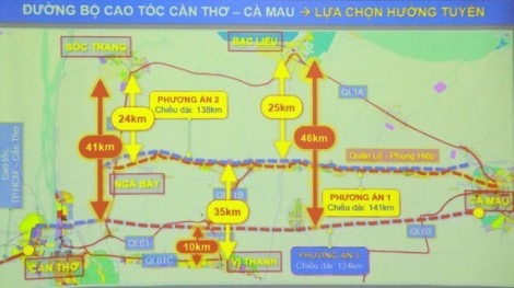Mekong Delta provinces propose three route options for expressway