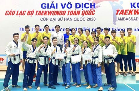 Taekwondo Cần Thơ đoạt 9 huy chương quốc gia