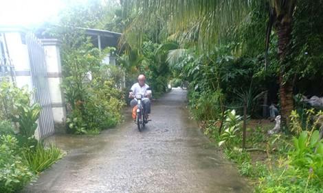Nguy hiểm giao thông nông thôn mùa mưa