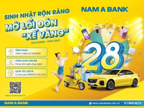 """Rước """"xế vàng"""" cùng ngàn ưu đãi mừng sinh nhật Nam A Bank"""