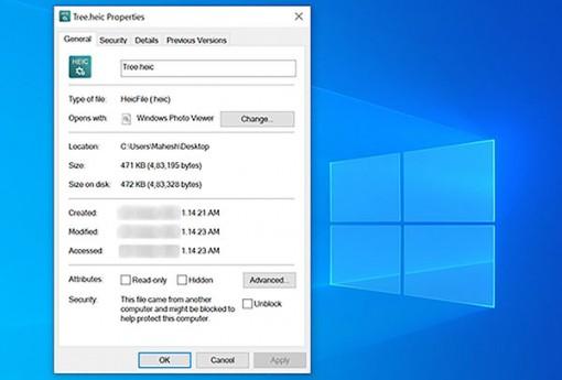 Cách mở ảnh HEIC của Apple trên máy tính Windows