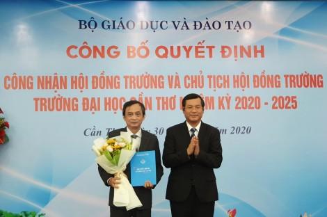 Giáo sư Nguyễn Thanh Phương giữ chức vụ Chủ tịch Hội đồng trường Trường Đại học Cần Thơ
