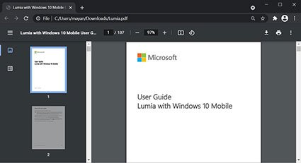 Công cụ đọc PDF mới trên Google Chrome