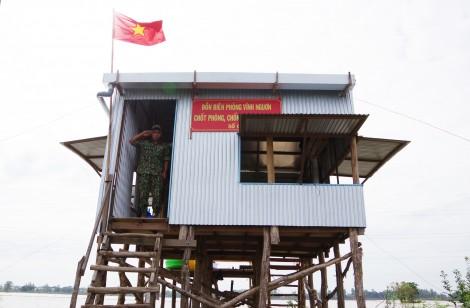 Thăm lực lượng biên phòng tăng cường phòng chống dịch COVID-19 tại An Giang