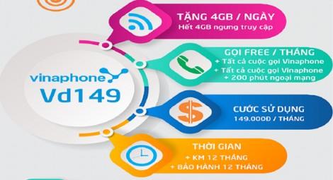 Vinaphone Cần Thơ: Chỉ 87.000/ tháng có ngay 4Gb/ngày + 200 phút Ngoại mạng/ tháng. Nội mạng miễn phí