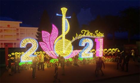 """Chiêm ngưỡng thiết kế Đường đèn nghệ thuật """"Sắc xuân Tây Đô"""" năm 2021"""