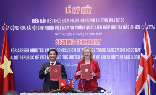 UK-Vietnam FTA to become effective from 23:00 on December 31