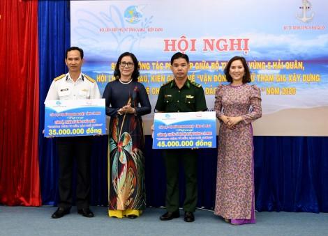 Phụ nữ tỉnh Cà Mau và Kiên Giang chung tay xây dựng và bảo vệ chủ quyền biển, đảo