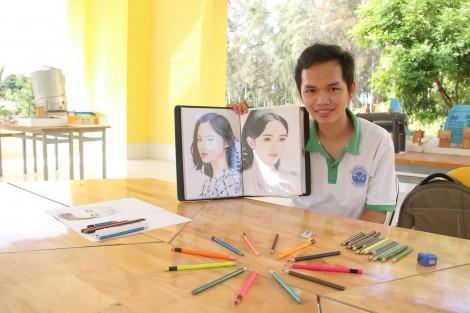 Sinh viên hóa học mê hội họa