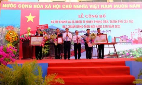 Ra mắt hai xã nông thôn mới nâng cao Mỹ Khánh và Nhơn Ái