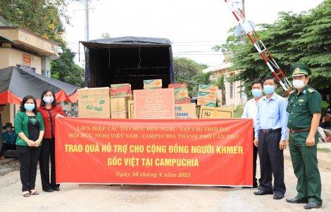 Trao quà hỗ trợ cộng đồng người Khmer gốc Việt tại Campuchia