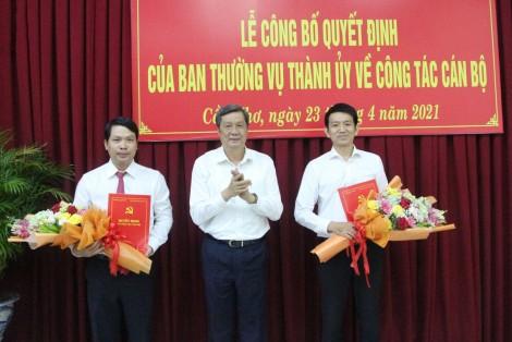 Ban Thường vụ Thành ủy Cần Thơ trao quyết định về công tác cán bộ