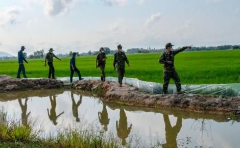 Xây thành lũy ngăn chặn dịch ở biên giới An Giang