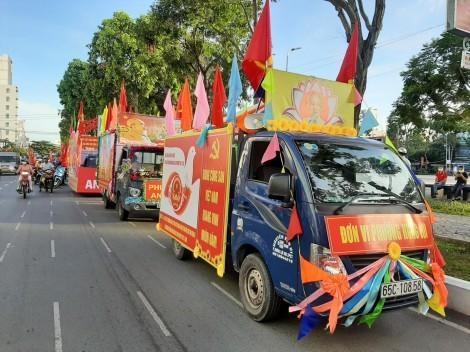Hội thi xe phóng thanh cổ động và diễu hành tuyên truyền bầu cử