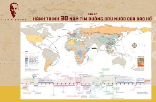 Map on Uncle Ho's 30-year national salvation journey published