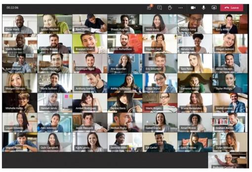 Microsoft Teams tăng số người tham dự lên 98 người