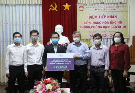 Tập đoàn Novaland ủng hộ Cần Thơ 2 tỉ đồng phòng, chống dịch COVID-19