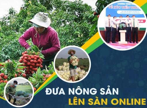 Giúp các hộ nông dân tham gia sàn thương mại điện tử