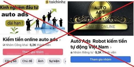 Ứng dụng Auto Ads huy động vốn đa cấp là lừa đảo