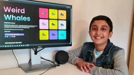 Lập trình viên 12 tuổi kiếm hơn 400.000 USD từ tài sản số NFT