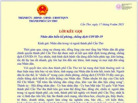 Lãnh đạo TP Cần Thơ kêu gọi Nhân dân hiến kế phòng chống dịch COVID-19