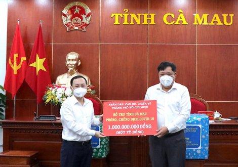 TP Hồ Chí Minh hỗ trợ Cà Mau chống dịch