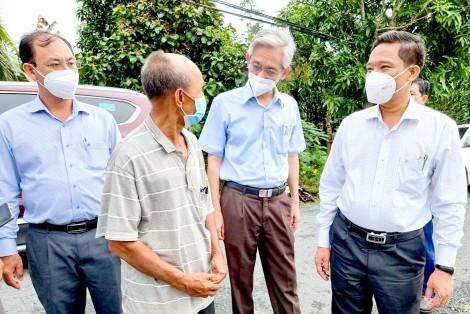 Lãnh đạo thành phố kiểm tra công tác giải phóng mặt bằng một số dự án trên địa bàn huyện Phong Điền
