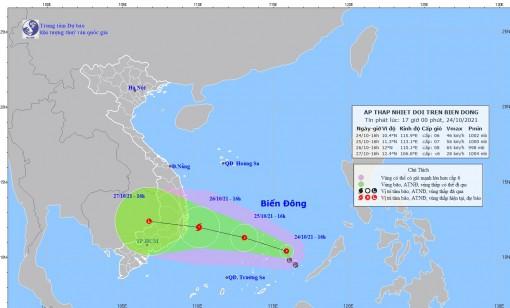Áp thấp nhiệt đới có thể mạnh lên thành bão; cảnh báo mưa lớn, lũ quét, sạt lở đất, ngập lụt và các chỉ đạo ứng phó