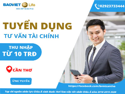 Bảo Việt Nhân thọ tuyển dụng tư vấn tài chính